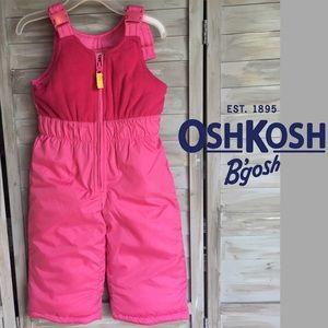 OSHKOSH Sz 18 mos pink snowpants bib overalls